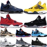 Air jordan 4s Retro Basketball Shoes homens sapatos de basquete fogo 4 tênis criados 11s gama azul concord espaço geléia preto gato branco cimento unb 3