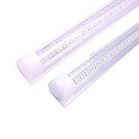 8FT Zintegrowany LED Light Light V Kształt, 72W 100 W 144W Lights Works bez T8 Ballast, Clear Obiektyw Pokrycie, Zimne White 6000K Pack 25 US Stock