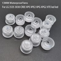 Light Beads 13mm 3535 CREE XPE XPE2 XPG XPG2 XTE LG TV LED Lens Waterproof 3030 Chip Diode Clear Bead Surface Integrated