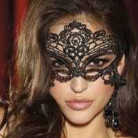 Women Hollow Lace Masquerade Face Mask Sexy Cosplay Prom Party Props Costume Halloween Nightclub Queen Eye H0910