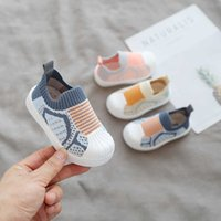 Infant Toddler Shoes Spring Girls Boys Casual Comfortable Baby Kids Non-slip Soft Bottom Stitching Color Sneakers 210729