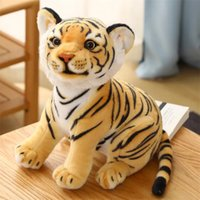 Simulation Tiger Doll Plush Toy Birthday Gift Stuffed Animal White Tigers Children's Toys Pillow Home Decoration, Accompany Kids Sleep Christmas Gifts