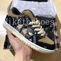 Jackboys Low Pro Skiteboard Shoes أسود / مظلي بيج بترا براون - أسود ترافيس مصمم صبار جاك H-Town Canvas حذاء كاجوال