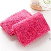Toalla de microfibra Mujeres Removedor de maquillaje Reutilizable Maquillaje Toallas Cara Limpieza Paño Belleza Limpieza Accesorios HWE7020