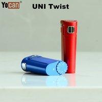 YOCAN UNI Twist Universal Portable Mod mod E-sigaretta Tensione regolabile con flessibile tutto il tipo 510 Thread Cartridge Oil Atomizer 10SEC Preriscaldamento Funzione a 1,8 V