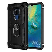 Phone Case For Mate 20 X 30 Pro Lite Luxury Car Armor Shockproof Finger Ring Holder Magnet Anti-Fall Kickstand Cover