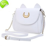 mini bags Swdf Summer Sailor Moon Ladies Handbag Black Luna Cat Shape Chain Shoulder Bag Pu Leather Women Messenger Crossbody Small C0125