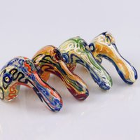 Colorful Cool Pipes Pyrex Thick Glass Handmade Dry Herb Tobacco Bong Handpipe Oil Rigs Innovative Design Luxury Decoration Smoking Holder DHL