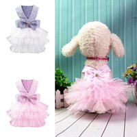 Dog Apparel Lace Tunic Cute Clothes Denim Dress 2021 Pet Skirt Clothing Small Cat Spring Summer Comfortable Supplies #p