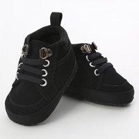 Navidad OFERTAS First Walkers Solid Cross-athis Baby Shoes Antideslizante Suela suave Suela Cálida Drop Bebek Ayakkabi
