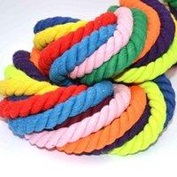 10 alyrads 8mm Cuerda de algodón 3 acciones cordones torcidos para el hogar Textil de la decoración de la decoración Bolsa de cordón de cordón DIY Lanyard Thread Cord