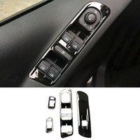 Para Volkswagen Tiguan 2010-2012 Black ABS Window Lift Switch Cubierta de cubierta