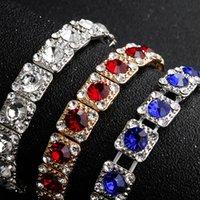 One Row Bridal Bracelets Elastic Charm Dazzling Rhinestones Beaded Wedding Bridal Great Gatsby Bracelets Girls Party Accessories