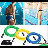 الاكسسوارات قابل للتعديل التدريب السباحة مقاومة حزام مطاطا الكبار الاطفال التمارين المقود شبكة الجيب سلامة حبل بركة سباحة أجزاء O9 LMWOC