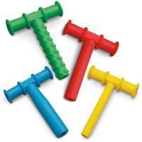 Nuovi giocattoli sensoriali del tubo di masticazione giallo a forma di teatro gommoso tubo per bambini per bambini Autism ADHD OFFICE SPECIALI