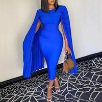 Robe de cocktail de gaine bleu royale simple avec enveloppements jeux de bijou à collet tel longueur robe de bal courtes robes de bal courtes robes de fête Vestidos de fiesta