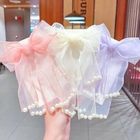 Hair Accessories Children Cute Barrettes Tie Net Yarn Bow HairBands Hairpins Girls Pearl Lace Clips Rubber Bands Kids