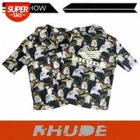 Camisa de manga corta de la marca de moda de Hip-Hop de Hip-Hop de Hip-Hop europeo y americano flower # go3h