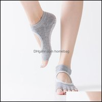 Athletic Outdoor As Sports & Outdoorssports Socks Women Yoga Dance Backless Five Toe Anti-Slip Ankle Grip Dots Pilates Fitness Gym Ladies Sp