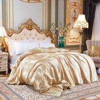 Bedding Sets Satin Silk Set Home Textile King Size Bed Clothes Duvet Cover Pillowcases
