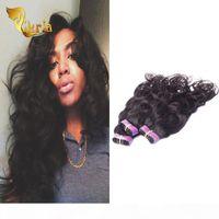 Крючковые косы Натуральные Волны Человеческие Волосы 3 Пакета 100% Необработанные Человеческие Волосы Уверенные Перуанские Индийские Малайзийские Бразильские Девственные Волосы