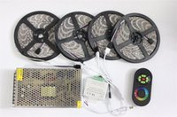 60leds / M LED luces de tira impermeable IP65 IP20 Tape + RF Touch Remote Controller + 12V 20A Power Strips Suply