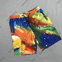 Diseñador de verano Shorts Mens Color Rendering Impresión Pantalones Playa Pantalones Classic Flores Imprimir Pantalones Moda Casual Algodón Doble Red Pantalones Net