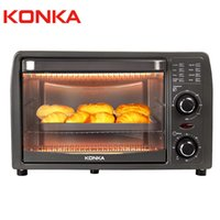 KONKA Electric Oven Multi-function Stainless Steel with Timer Bake Broil Roaster 13L Mini Pizza Oven Frying Pan Baking Machine