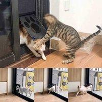 Katzenmöbel Kratzer Haustierbedarf PAW-Form Drucken Anti-Biss Kleine Hunde-Hunde-Tür für Fenster-Bildschirm RRA1738 TX5W