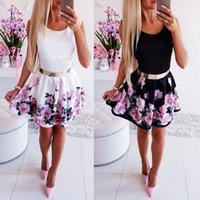 Casual Dresses Women Dress Fashion Rose Flower Print A Line Sexy Sleeveless Tank Mini Elegant Sundress Club Party Vestidos