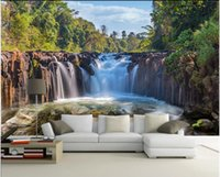 Wallpapers Custom Po 3d Wallpaper Waterfall Flowing Water Natural Scenery Living Room Home Decor Wall Murals For Walls 3 D