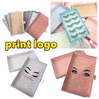 False Eyelashes Wholesale 5pairs Of Lash Book Custom Your Private Logo Eyelash Packaging Box Fake 3D Mink Lashes Strip Packing Case Empty