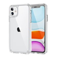 1.5MM Clear acrylic + TPU iPhone Protective Phone Case hard PC shell cover for iPhoneX XR 11 12 13 Pro Max shockproof anti yellow cases