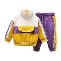 Fashion Enfants Vêtements Automne Bébé Filles Vêtements Garçons Coton Veste Pantalons 2pcs Set Enfant Sport Costume occasionnel Costume Costume Enfants Kidsuits 210418