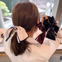 Merk Designer Letters Print Large Darm Hair Ties Ropes Koreaanse Eenvoudige Scrunchies Hairband Paardenstaart Houder Elastische Rubber Banden Headwraps voor Vrouwen