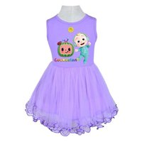 Сплошные розовые фиолетовые цветные девочки для танкового платья Летняя сетка марлевая юбка Cocomelon маленький мальчик JJ милая принцесса лоскутная пакетная пачка юбки пушистые вечеринки повседневные платья G83EC6H