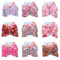 Baby Hair Accessories Pins Bb Clip Barrettes Clips For Girls Childrens jojo siwa Bows 8Inch Bowknot Ribbon Love B5323