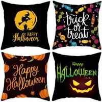 24 colors decorative pillow covers for christmas Halloween pillows home gift sofa leaning fleece pillowcase Cushion Textiles EWB10430