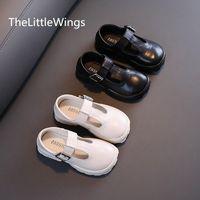 Flat Shoes Children's Genuine Leather 2021 Korean Princess School Autumn Fashion Girls' Soft Comfortable 4-15 Years Old