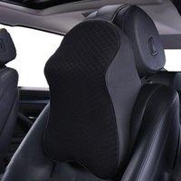 Seat Cushions Car Neck Pillow Headrest Cushion Adjustable Head Restraint Memory Foat Travel Soft Rest Support