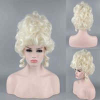 Marie Antoinette Princesse Moyenne Courry Coiffeur Cosplay Perruques