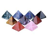 Piramit Doğal Taş Kristal Şifa Wicca Maneviyat Oymalar Taş Zanaat Kare Kuvars Turkuaz Taş Carnelian Takı GWB6411