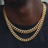Hip Hop Üst Satmak Zincir Kolye Vintage Takı Staniless Çelik 18 K Altın Dolgu Istakoz Pençe Toka Yüksek Kalite Küba Kolye Parti Moda Kadın Erkek Kolye Hediye