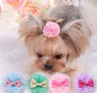 Apparel Flower Vision Teddy Poodle Dog Clip Set Hairpin Pet Wedding Headdress Pets Hair Accessories 1Exi8 Wgq9H