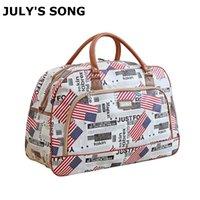 Canción de julio Mujer Viajes Bolsa de viajes Grande Capacidad PU Cuero grande Capacidad Impermeable Impermeable Loba Bolsa Bolsas de viaje casuales 210329