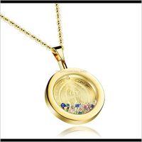 مصمم الأزياء المنجد العذراء ماري ملون الماس الكريستال الفولاذ المقاوم للصدأ الرجال النساء المجوهرات الدينية 6srzw القلائد 0U7HK
