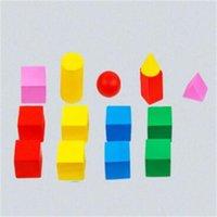 الرياضيات الخشبية مونتيسوري التدريس الإيدز عد العصي الهندسة شكل رقائق 3d هندسة كتل الرياضيات لعب للأطفال GYH 1277 Y2