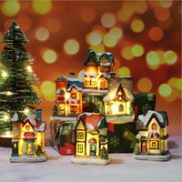 Светодиодная рождественская игрушка украшения Смола маленький дом микро ландшафт замка украшения рождественских подарков
