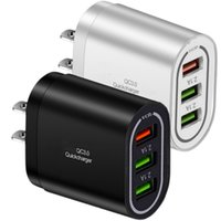 Fast Quick Charging Eu US UK Ac Power Adapter QC3.0 3Ports Wall Charger For IPhone 11 12 Samsung S10 S20 S21 htc Android phone