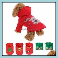 Home & Garden8 Design Costume Winter Clothes Christmas Cloth For Teddy Bichon Puppy Cotton Dog Apparel Pet Decoration Dogs Supplies Drop Del